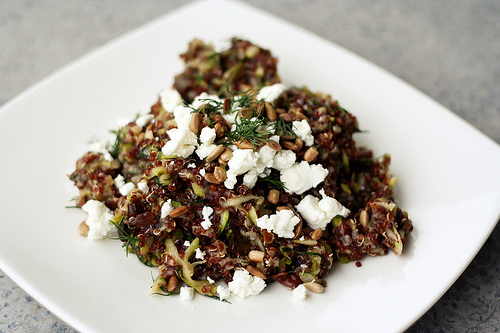 Red Quinoa Salad with Currants, Dill, Zucchini and Sunflower Seeds ...