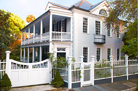 Lovingly restored, the 1743 Georgian is one of the earlier homes in historic Charleston.